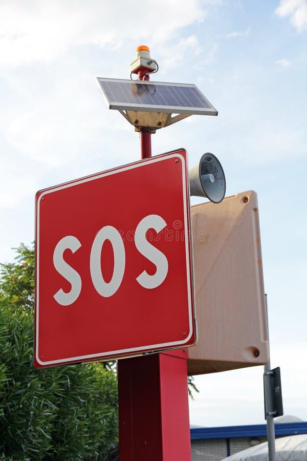 Segno di SOS per aiuto rapido fotografie stock