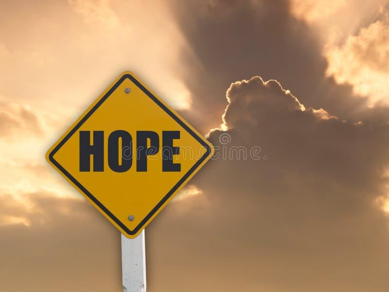 Segno di speranza fotografie stock