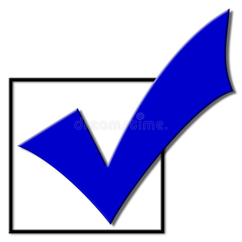 Segno di spunta di voto royalty illustrazione gratis