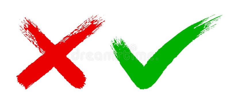 Segno di spunta due - illustrazione di stock