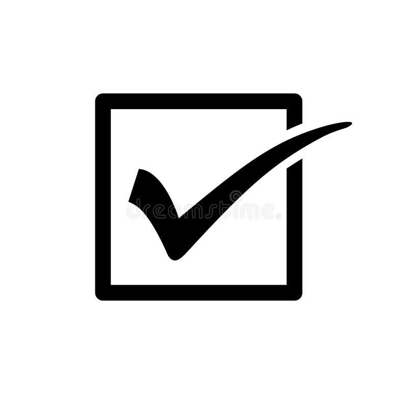 Segno di spunta o segno di spunta in scatola nessuna 2 illustrazione vettoriale