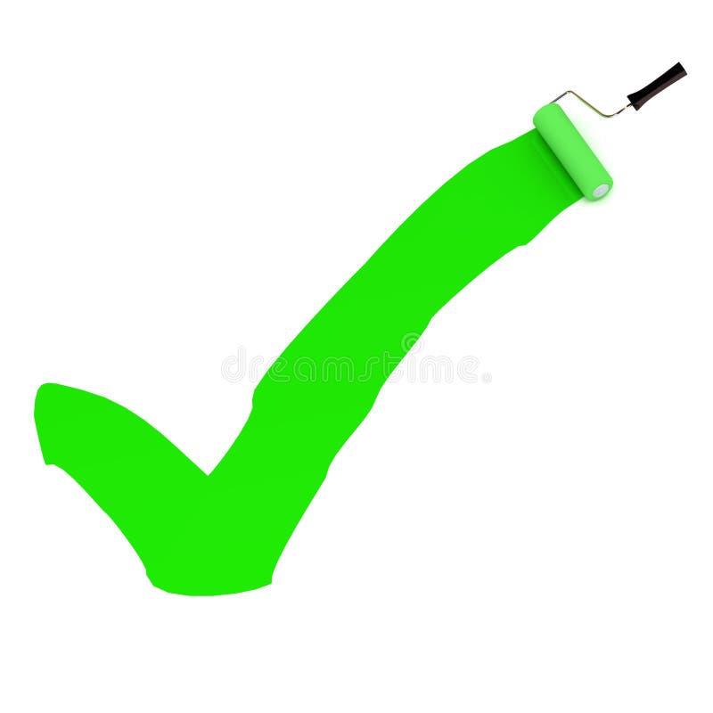 Segno di spunta verde della pittura