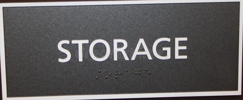 Segno di stoccaggio fotografia stock