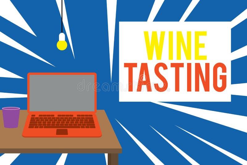 Segno di testo che mostra la lavorazione del vino Foto concettuale Alcol consumo di alcool Raccolta sociale Gourmet Winery Vista  illustrazione di stock