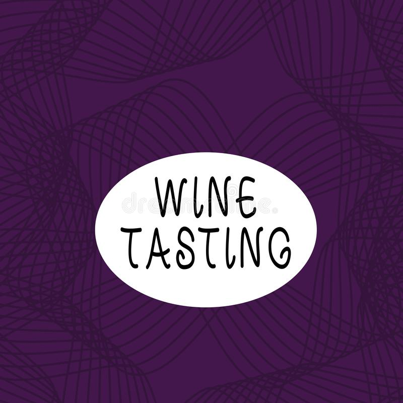 Segno di testo che mostra la lavorazione del vino Raccolta sociale Gourmet Winery Drinking Set di bevande per la Degustazione di  illustrazione di stock