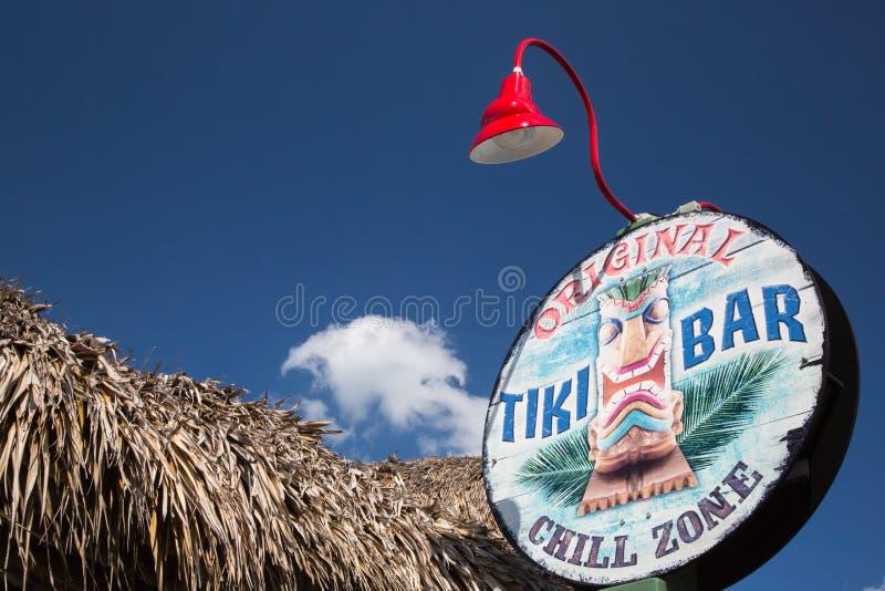 Segno di Tiki Antivari fotografia stock libera da diritti