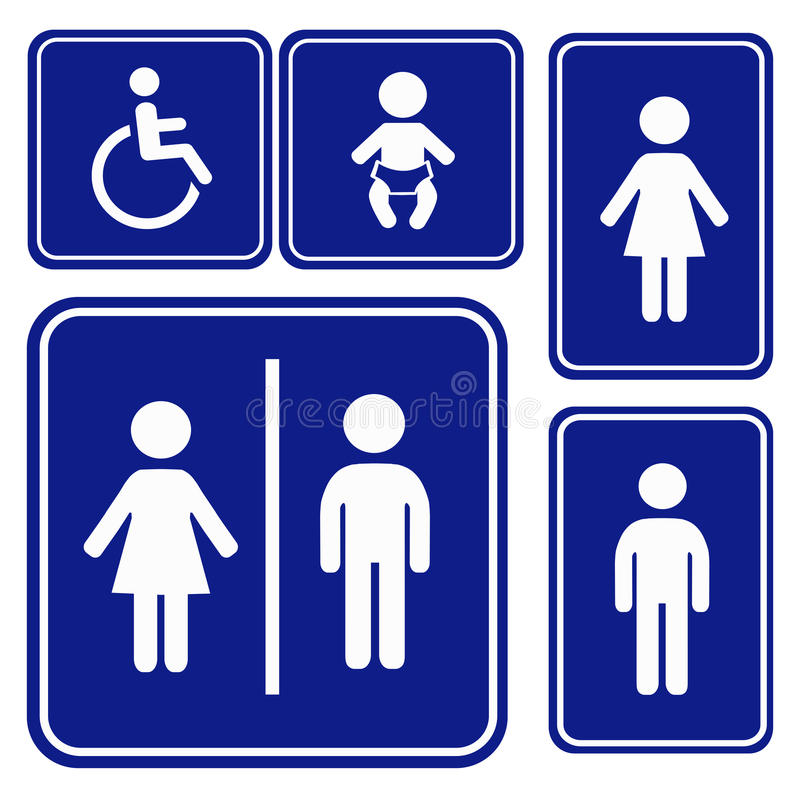 Segno di toilette dell'illustrazione di vettore royalty illustrazione gratis