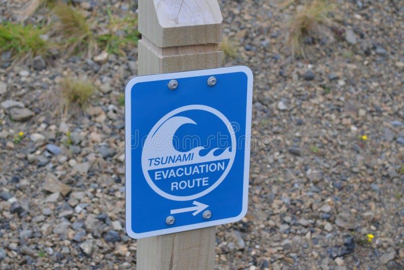 Segno di Tsunami immagine stock