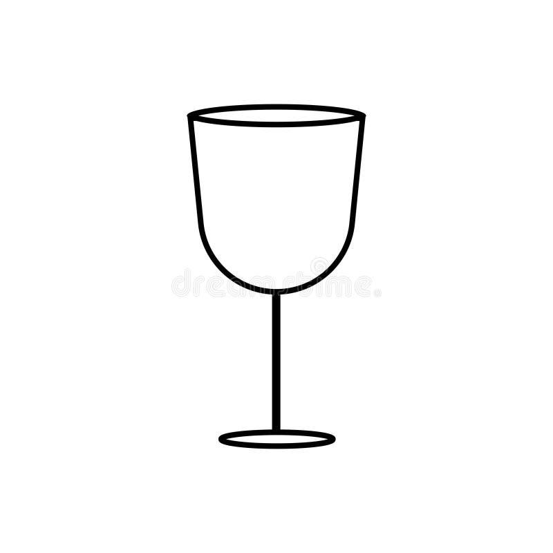 Segno di Tulip Shape Wine Glass illustrazione di stock