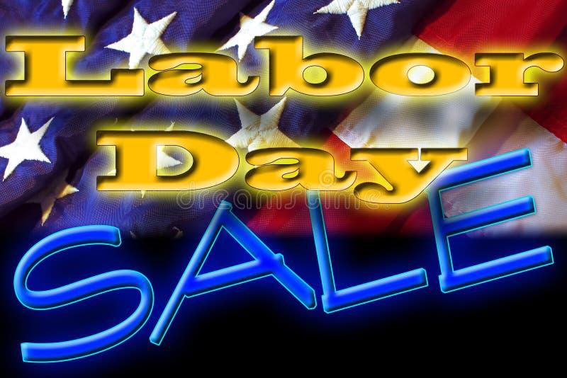 Segno di vendita di festa del lavoro royalty illustrazione gratis
