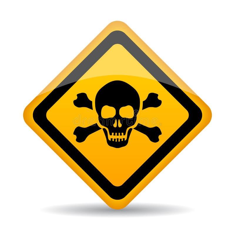 Segno di vettore del pericolo del cranio illustrazione vettoriale