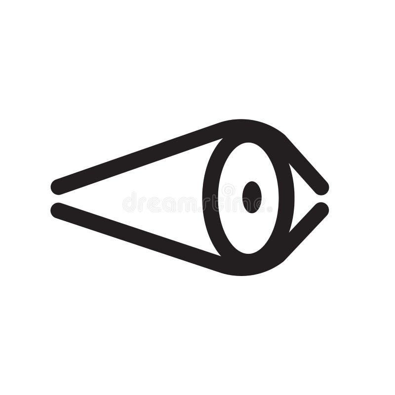 Segno di vettore dell'icona del bottone di visibilità dell'occhio e isola alti vicini di simbolo illustrazione di stock