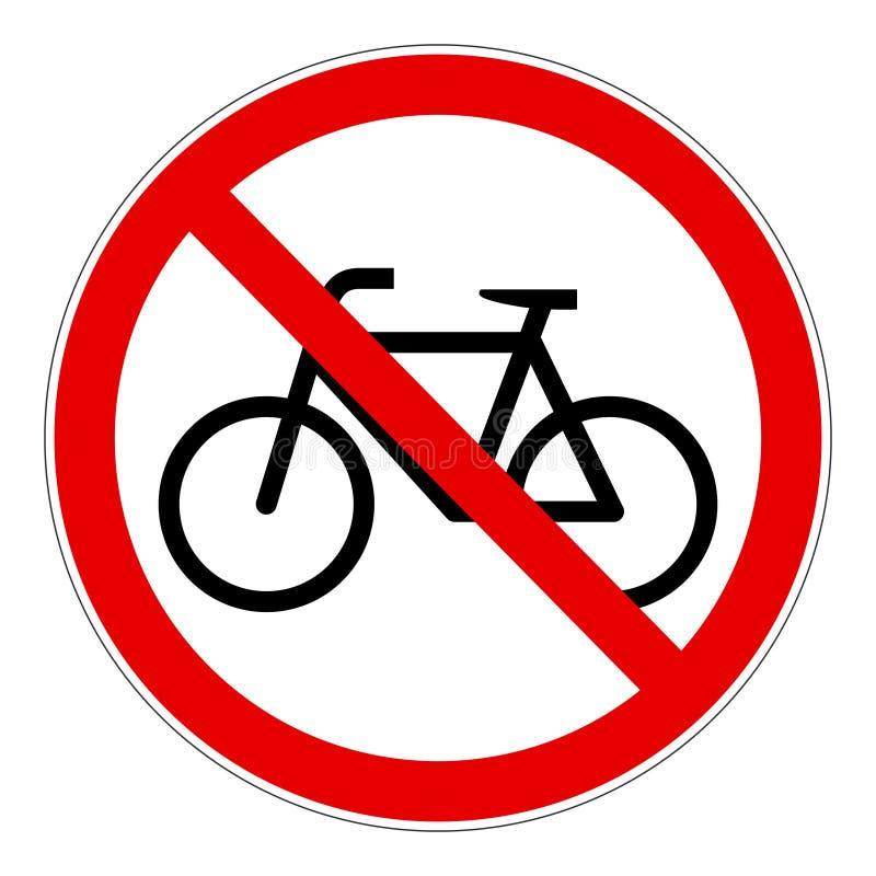 Segno di vettore severo bicicletta rossa royalty illustrazione gratis