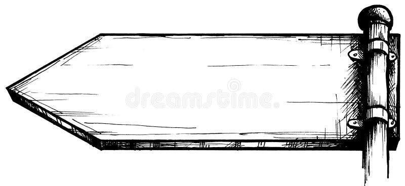 Segno di via in bianco illustrazione di stock