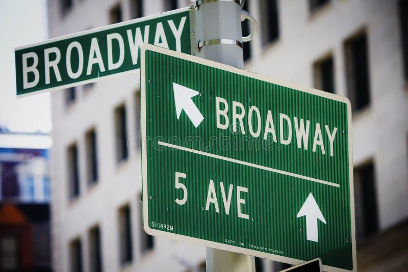 Segno di via del Broadway immagine stock libera da diritti