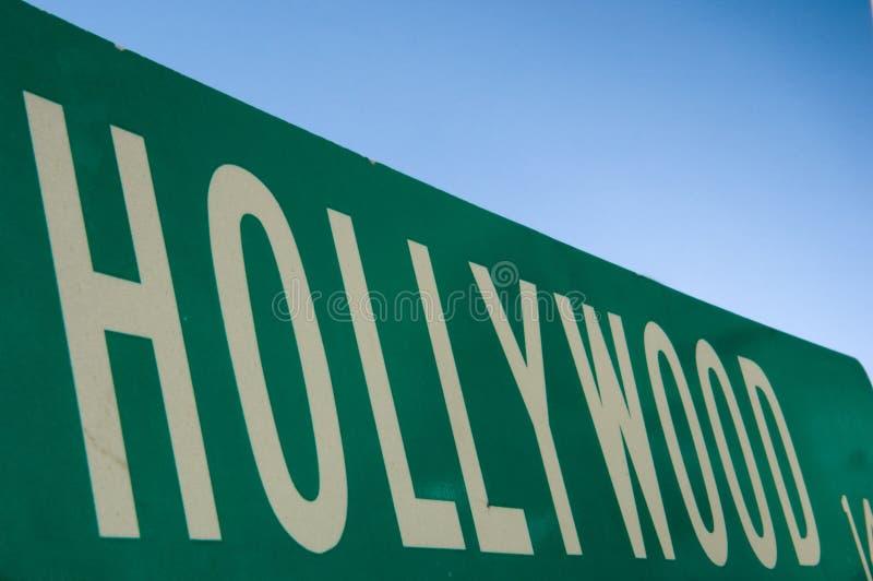Segno di via di Hollywood immagini stock libere da diritti