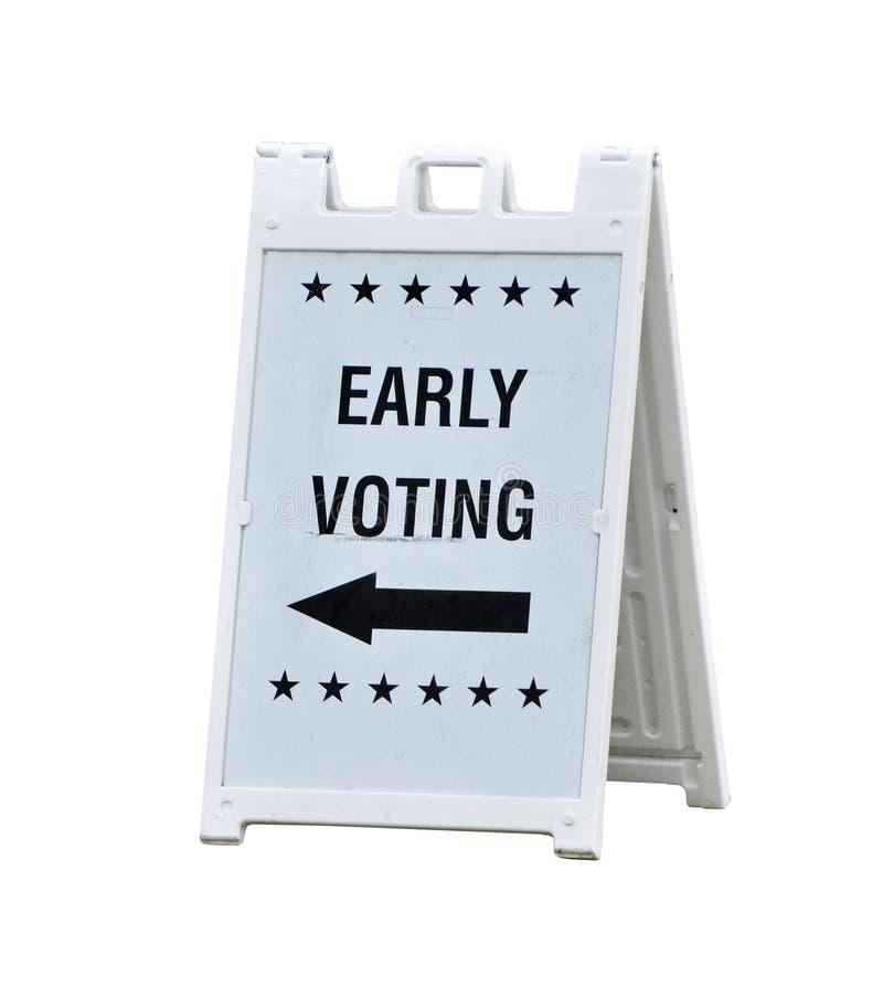 Segno di voto in anticipo immagini stock