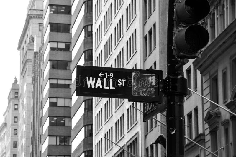Segno di Wall Street fotografie stock libere da diritti
