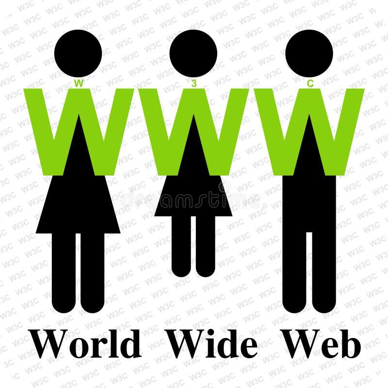 Segno di World Wide Web royalty illustrazione gratis