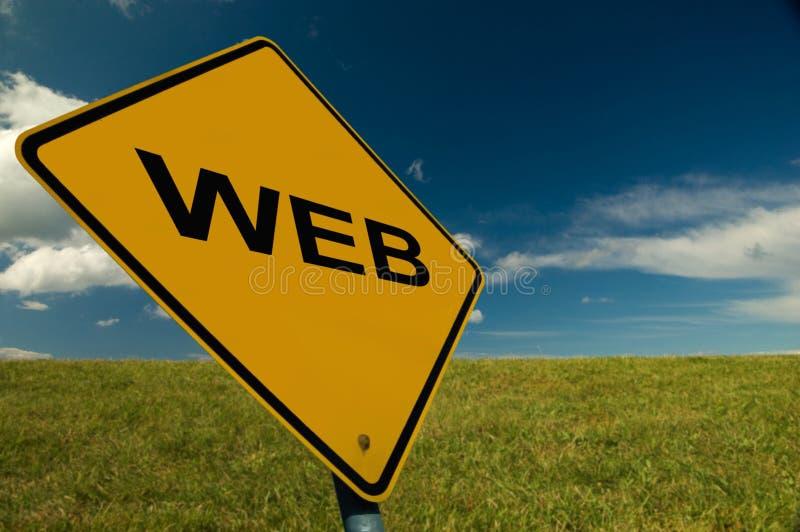 Segno di WWW fotografia stock