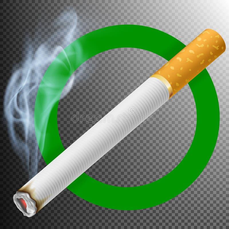 Segno di zona di fumo ENV 10 royalty illustrazione gratis