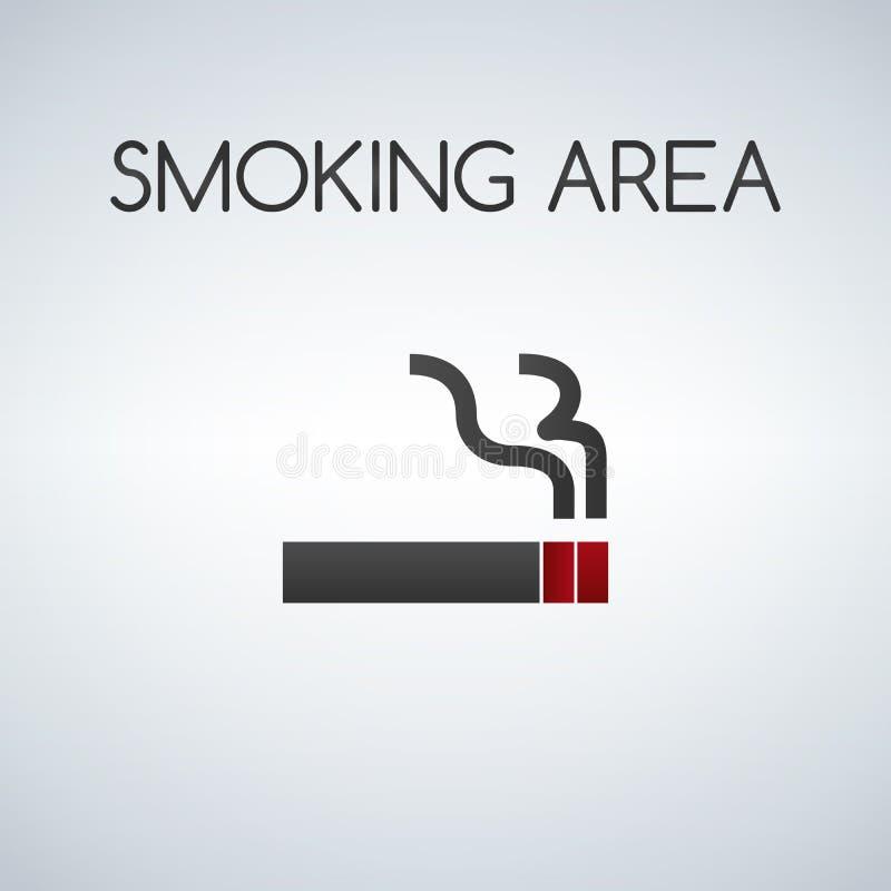 Segno di zona di fumo illustrazione di stock