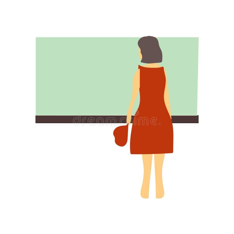 Segno e simbolo di vettore di vettore di condizione della donna isolati su fondo bianco, concetto di logo di vettore di condizion royalty illustrazione gratis