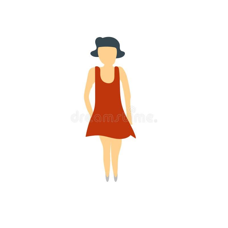 Segno e simbolo di vettore di vettore di condizione della donna isolati su fondo bianco, concetto di logo di vettore di condizion illustrazione di stock