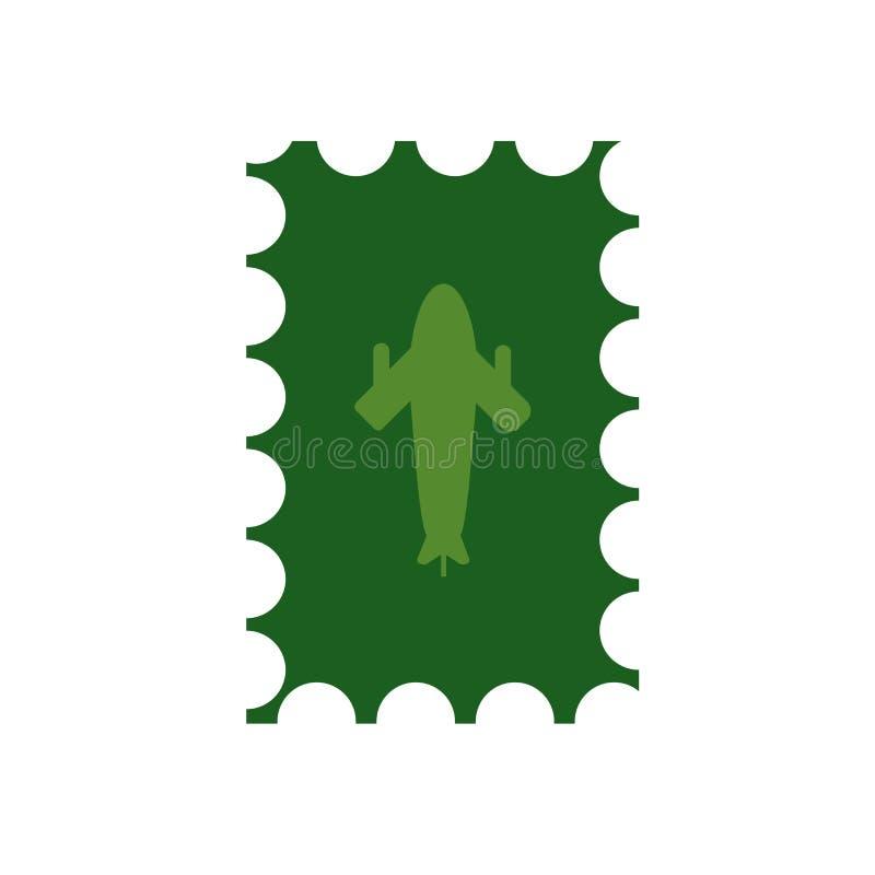 Segno e simbolo di vettore dell'icona dell'affrancatura isolati su fondo bianco, concetto di logo dell'affrancatura illustrazione di stock