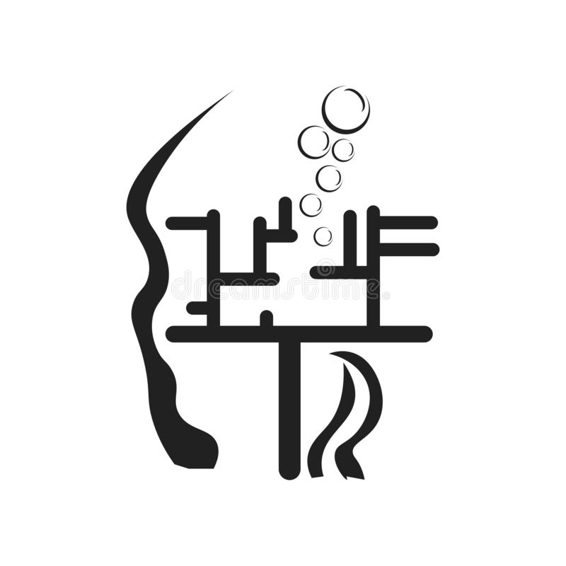 Segno e simbolo di vettore dell'icona dell'alga isolati su fondo bianco, concetto di logo dell'alga illustrazione di stock