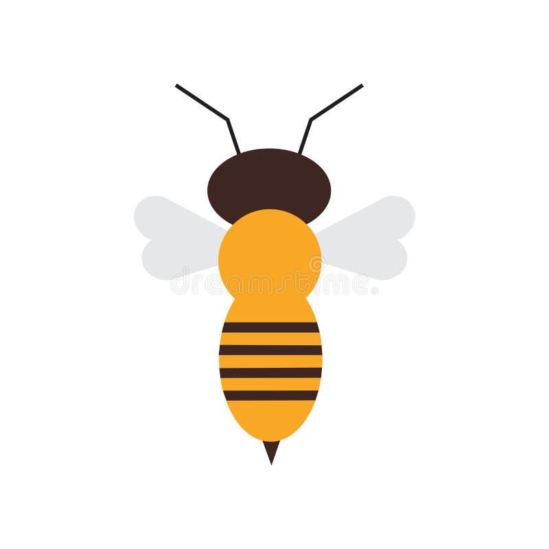 Segno e simbolo di vettore dell'icona dell'ape isolati su fondo bianco, concetto di logo dell'ape illustrazione vettoriale