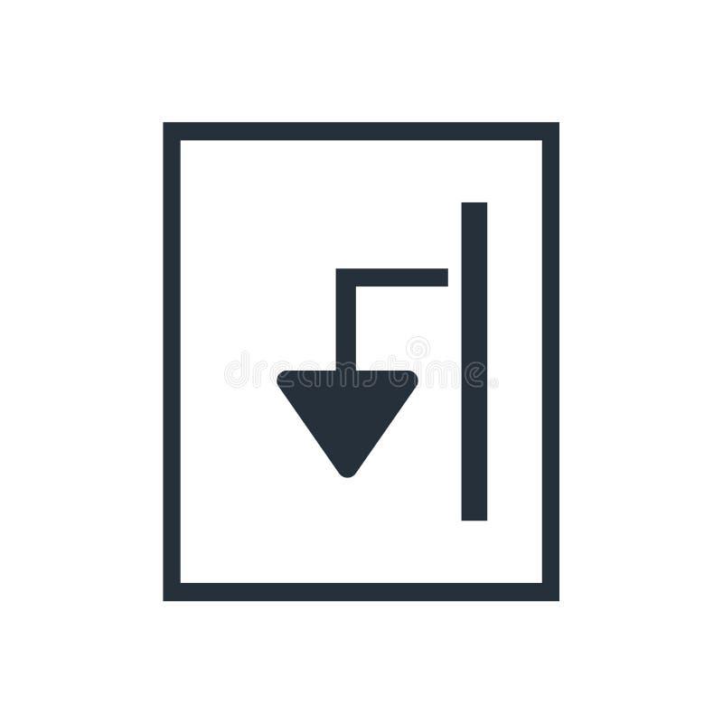 Segno e simbolo di vettore dell'icona dell'archivio dell'esportazione isolati su fondo bianco, concetto di logo dell'archivio del illustrazione di stock