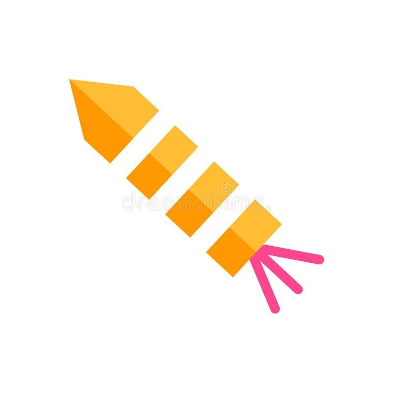 Segno e simbolo di vettore dell'icona dei fuochi d'artificio isolati su fondo bianco illustrazione di stock