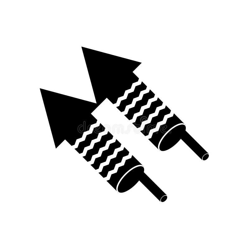 Segno e simbolo di vettore dell'icona dei fuochi d'artificio isolati su fondo bianco, concetto di logo dei fuochi d'artificio illustrazione vettoriale