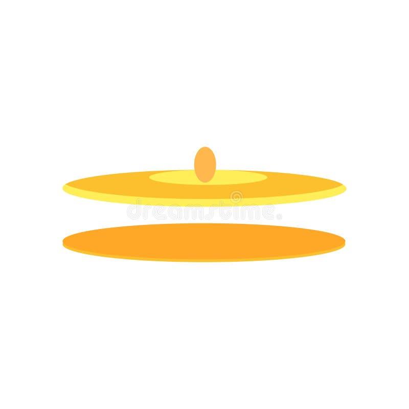 Segno e simbolo di vettore dell'icona dei piatti isolati su fondo bianco illustrazione di stock