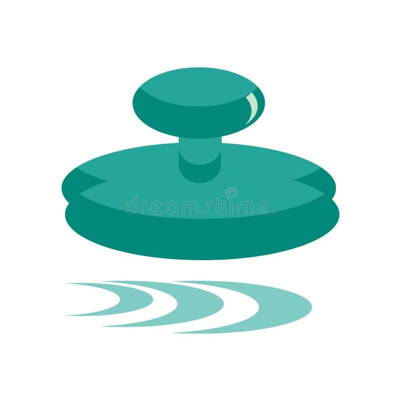 Segno e simbolo di vettore dell'icona del bollo isolati su fondo bianco royalty illustrazione gratis