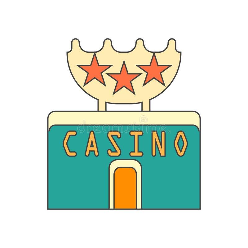 Segno e simbolo di vettore dell'icona del casinò isolati su fondo bianco, concetto di logo del casinò royalty illustrazione gratis