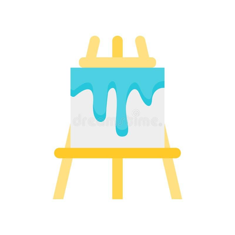 Segno e simbolo di vettore dell'icona del cavalletto isolati su fondo bianco illustrazione di stock