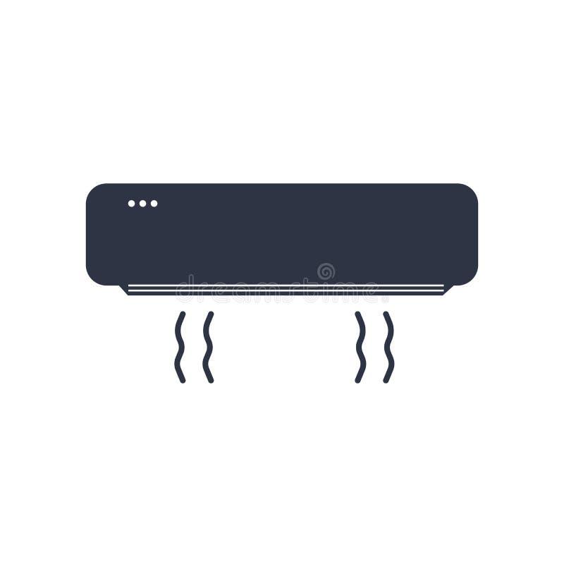 Segno e simbolo di vettore dell'icona del condizionatore d'aria isolati su fondo bianco, concetto di logo del condizionatore d'ar illustrazione di stock