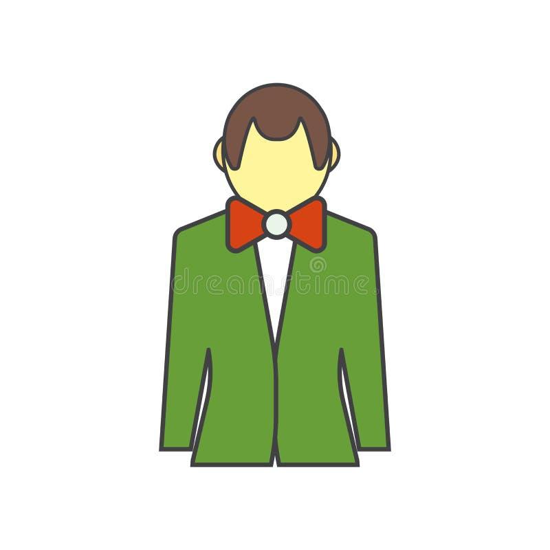 Segno e simbolo di vettore dell'icona del croupier isolati su fondo bianco, concetto di logo del croupier royalty illustrazione gratis