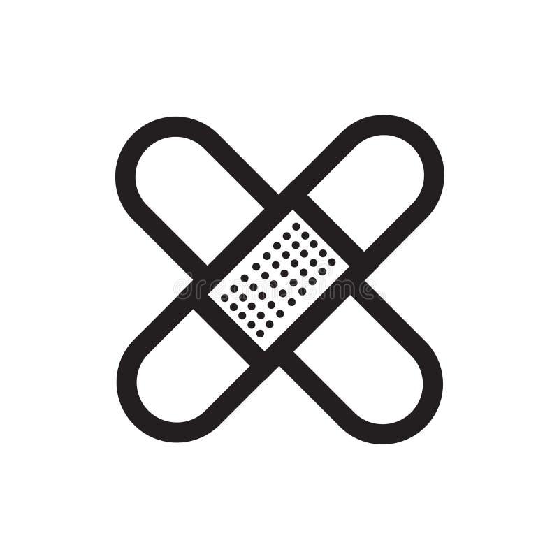 Segno e simbolo di vettore dell'icona del gesso attaccante isolati sulla b bianca royalty illustrazione gratis