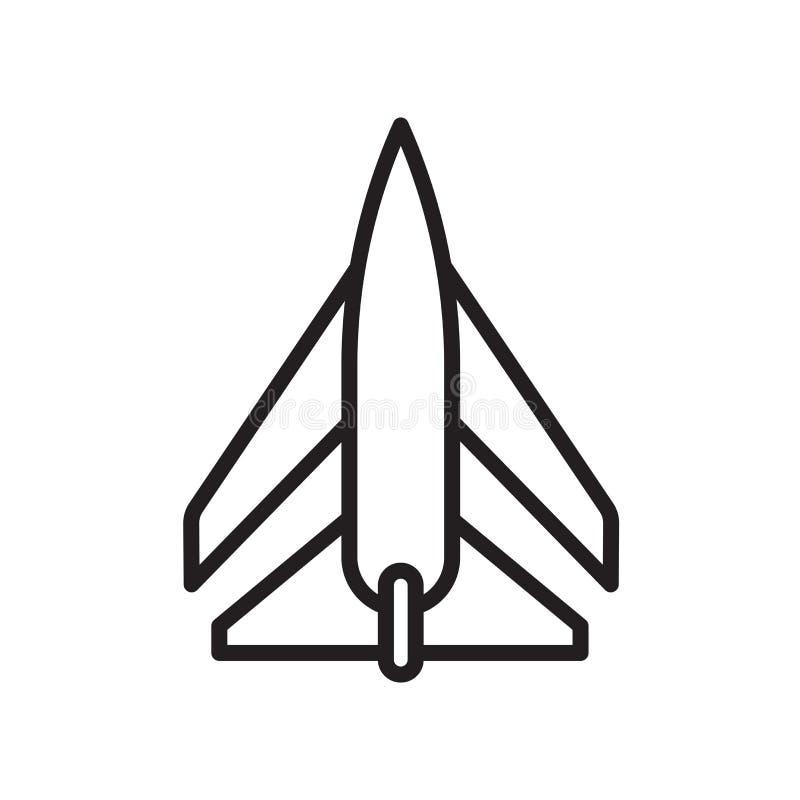 Segno e simbolo di vettore dell'icona del getto isolati su fondo bianco, concetto di logo del getto, simbolo del profilo, segno l illustrazione di stock