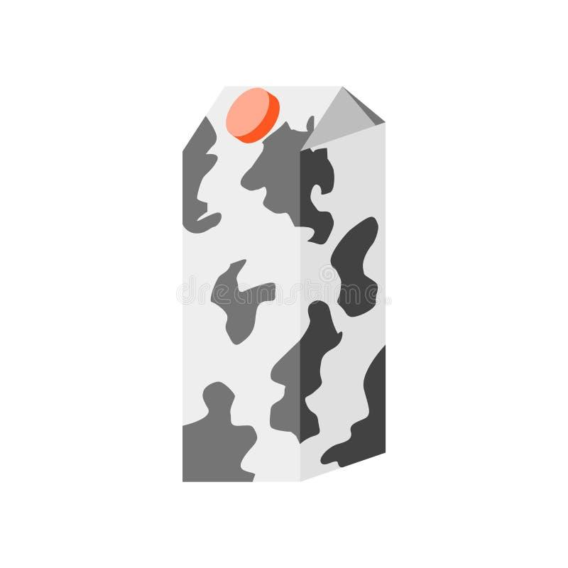 Segno e simbolo di vettore dell'icona del latte isolati su fondo bianco, concetto di logo del latte illustrazione di stock