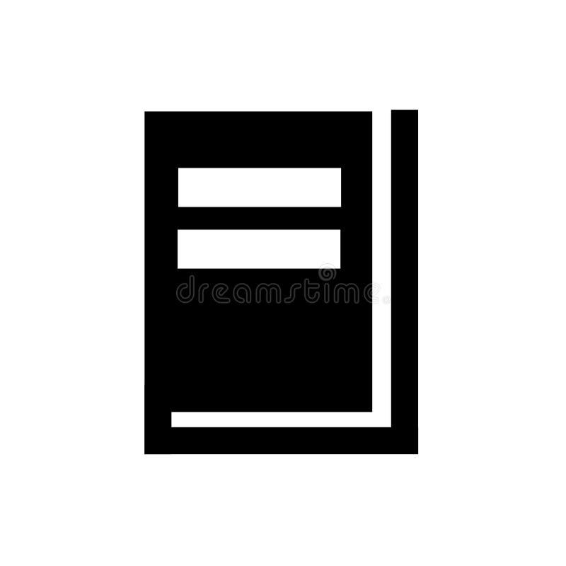 Segno e simbolo di vettore dell'icona del libro della copertina rigida isolati su fondo bianco, concetto di logo del libro della  illustrazione di stock