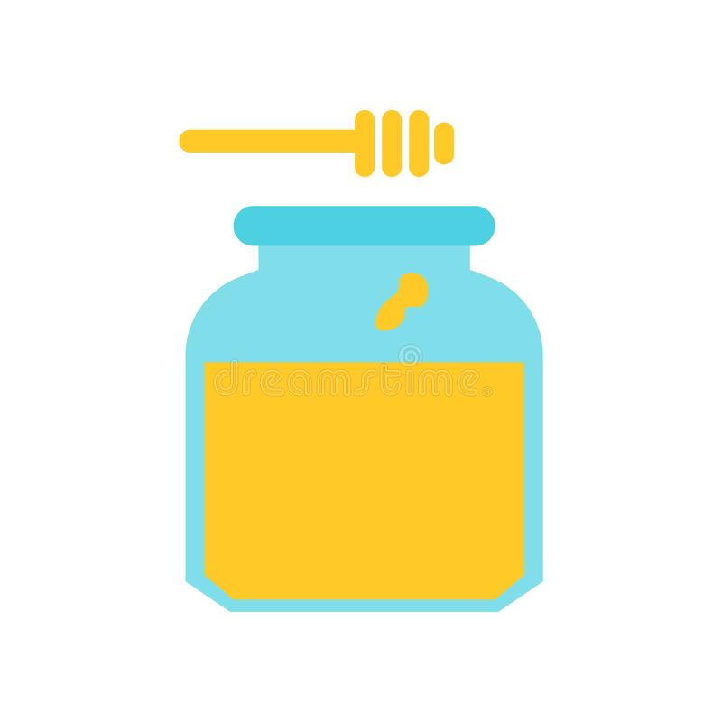 Segno e simbolo di vettore dell'icona del miele isolati su fondo bianco, concetto di logo del miele royalty illustrazione gratis