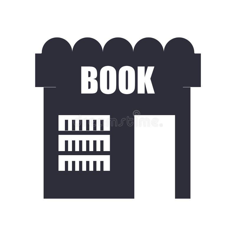 Segno e simbolo di vettore dell'icona del negozio di libro isolati su fondo bianco, concetto di logo del negozio di libro royalty illustrazione gratis