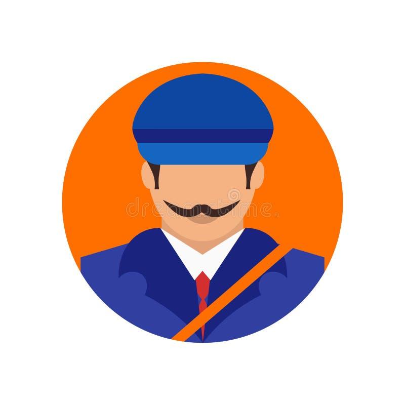 Segno e simbolo di vettore dell'icona del postino isolati su fondo bianco, concetto di logo del postino illustrazione vettoriale