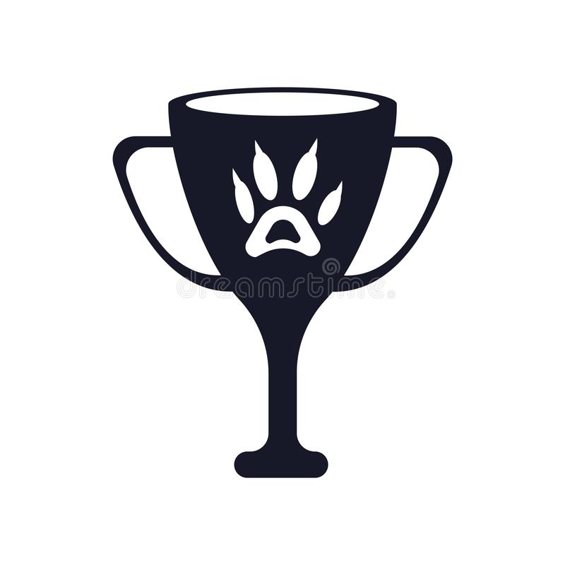 Segno e simbolo di vettore dell'icona del premio isolati su fondo bianco, concetto di logo del premio illustrazione vettoriale