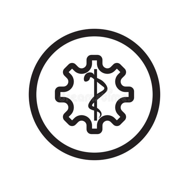 Segno e simbolo di vettore dell'icona del segnale della farmacia isolati su fondo bianco, concetto di logo del segnale della farm illustrazione vettoriale