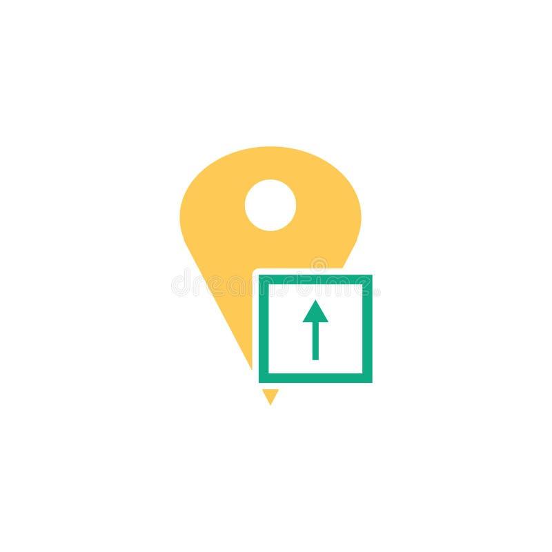 Segno e simbolo di vettore dell'icona del segnaposto isolati su fondo bianco, concetto di logo del segnaposto illustrazione di stock
